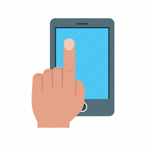 call, cell, device, hand, internet, mobile, phone icon