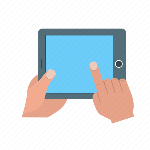 computer, digital, hand, information, keyboard, laptop, tablet icon