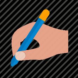artist, draw, hand, pen, report, school, writing icon