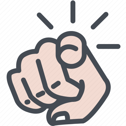 finger, finger pointing, hand, hand gestures, indicator, point, you icon