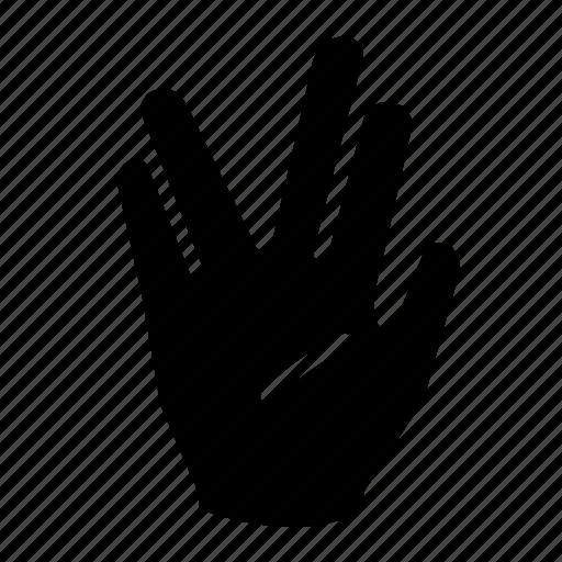 communicate, communication, conversation, hand, hand gesture, technology, vulcan salute icon