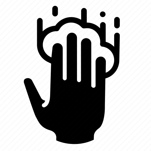conversation, four fingers, hand, screen, tap, technology, touch icon
