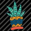 art, cactus, succulent icon