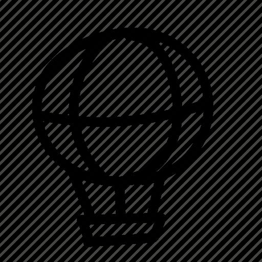 air balloon, geo, handwritten, sketch icon