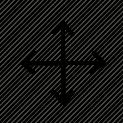 arrow, cross, geo, handwritten, sketch icon