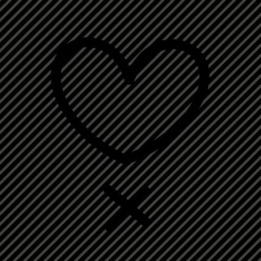 favorite, favorites, geo, handwritten, heart, sketch icon