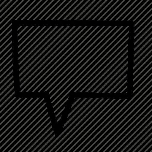 bubble, handwritten, message, sketch icon