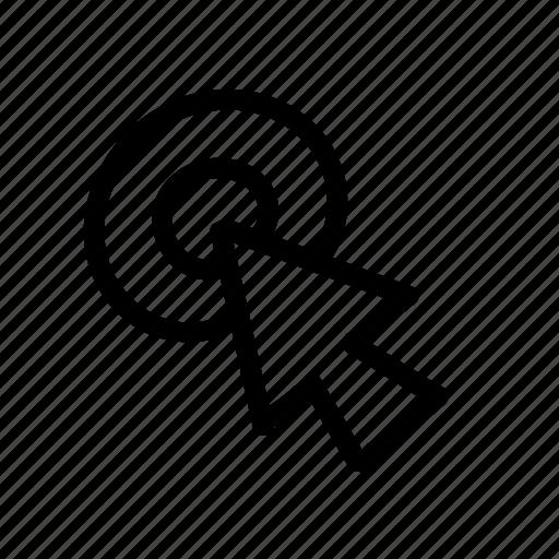 arrow, cursor, geo, handwritten, sketch icon