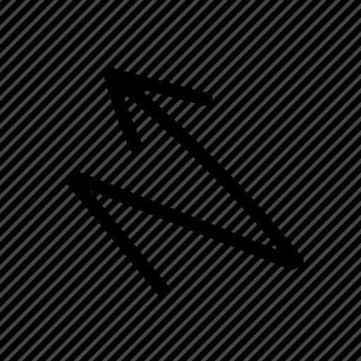 arrow, geo, handwritten, sketch, zigzag icon
