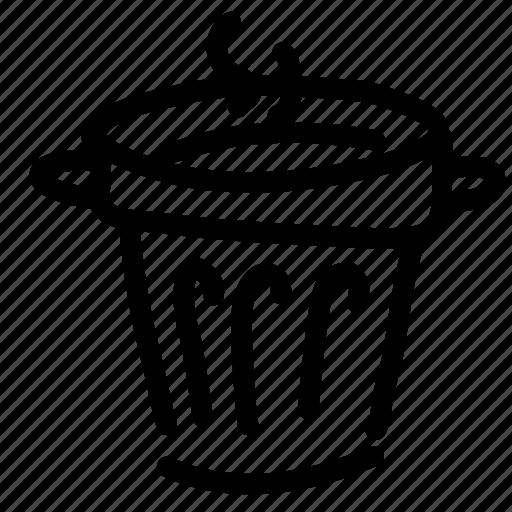 can, dustbin, garbage, rubbish, smelly, trash, waste icon