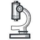 academic, academy, biology, education, knowledge, learning, magnify, micro, microscope, miniscule, school, science, student, teach, teaching, tool, university icon