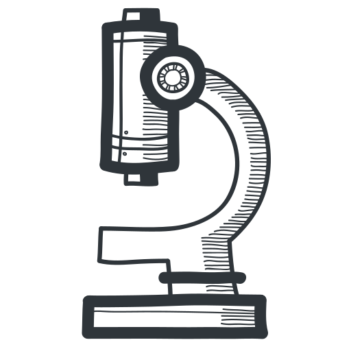 academic, academy, biology, education, handdrawn, knowledge, learning, magnify, micro, microscope, miniscule, school, science, student, teach, teaching, tool, university icon