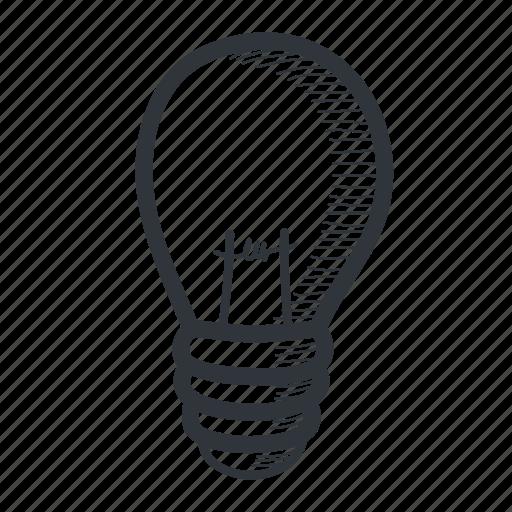 Academic, academy, drawn, idea, knowledge, lightbulb, school icon - Download on Iconfinder