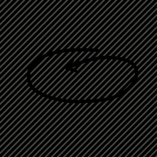 arrow, circle, circle arrow, felt tip pen, hand drawn arrow, pointer, remark icon