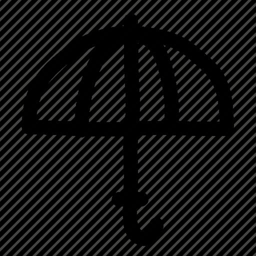 opened, protection, rain, shade, sun, umbrella icon