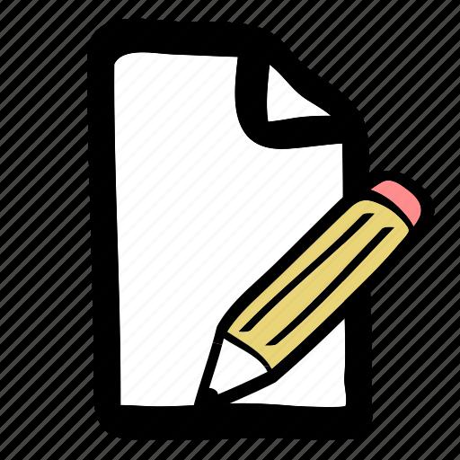 edit, edit file, file, pencil icon