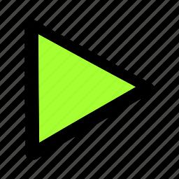 movie, play, run, start, triangle icon