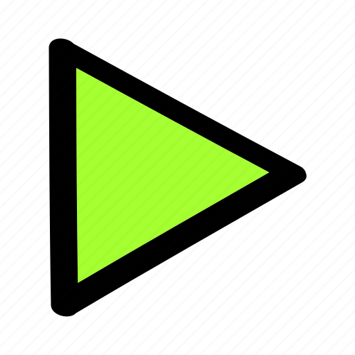 Movie, play, run, start, triangle icon - Download on Iconfinder