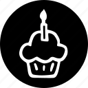 a, anniversary, candle, celebration, on, one, with icon