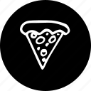 piece, pizza, triangular icon