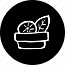 a, in, plate, vegetables icon