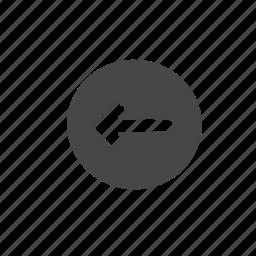 arrow, hollow icon