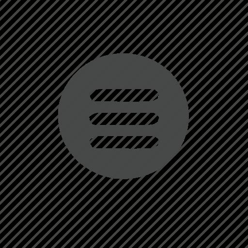 hollow, menu icon