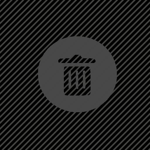 bin, hollow, trash icon