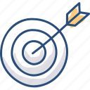 archer, arrow, asset, bullseye, hit, target icon