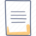 asset, document, paper, sheet icon