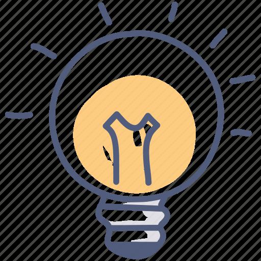 asset, electricity, energy, idea, lightbulb, think icon