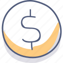 bank, currency, dollar, finance, money, sale icon