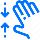 action, fingers, five, gesture, hand, interactive, pinch icon