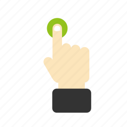 finger, gesture, hand, screen, touch icon
