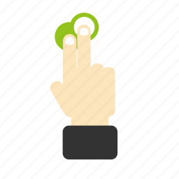 drawn, finger, gesture, hand, touch icon