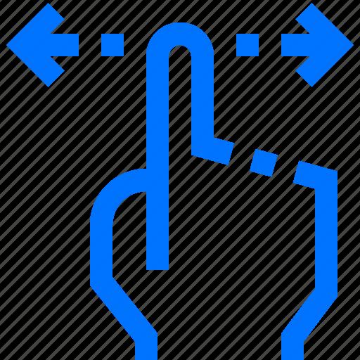 finger, gesture, hand, horizontal, interactive, scroll, swipe icon