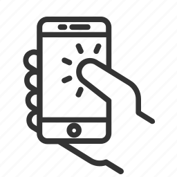 device, gesture, line icon, phone, tap, touch, ux icon