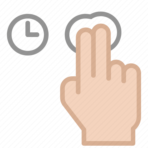 device, fingers, gesture, line icon, tap, touch, ux icon