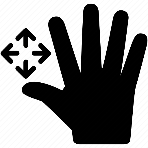 drag, fingers, five, gesture, interaction, screen, touch icon