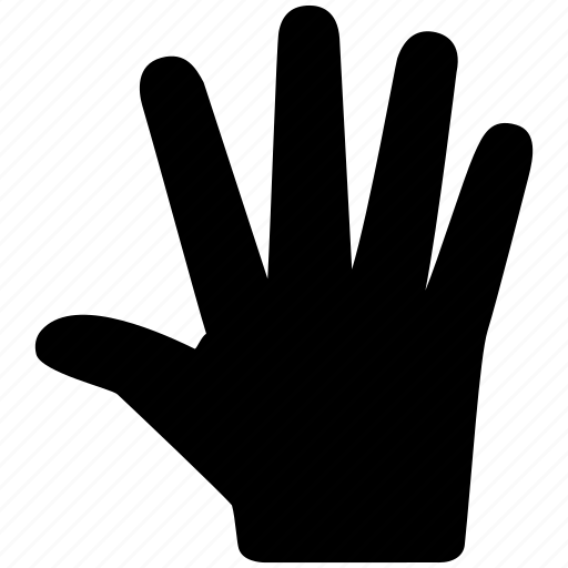 fingers, five, hand, indication, number icon