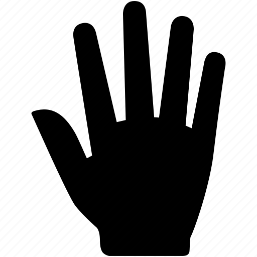 back, fingers, five, gesture, hand icon