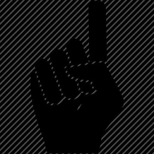finger, gesture, hand, index, up icon