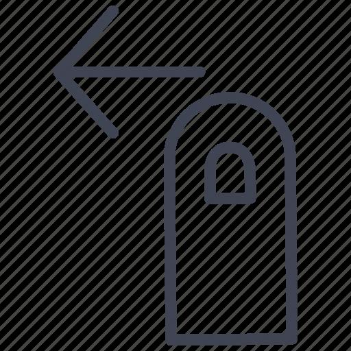 arrow, finger, gesture, hand, left, move icon