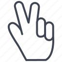 finger, fingers, gesture, hand, peace icon