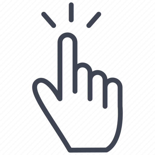 finger, fingers, gesture, hand, tap, touch icon