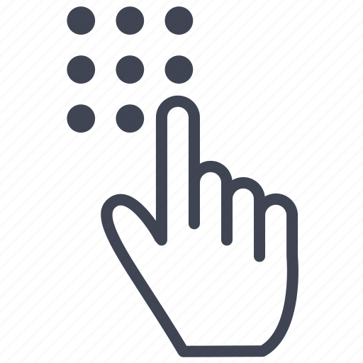finger, fingers, gesture, hand, touch, touchpad icon