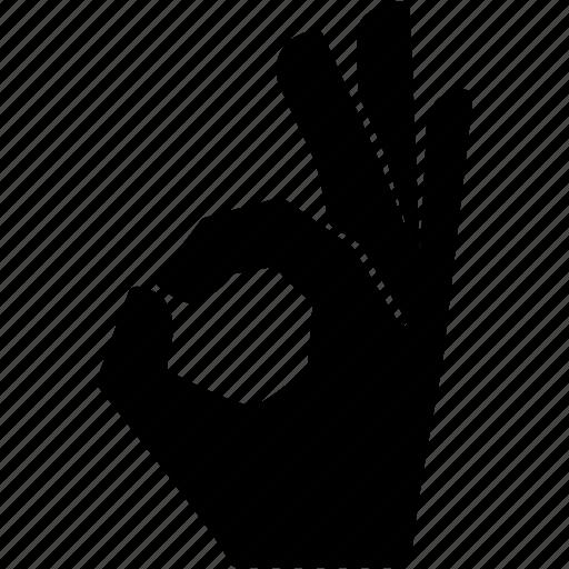 communication fingers hand indication language ok icon