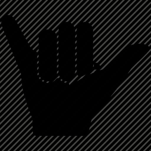 australia, casual, friendship, hand, shaka, sign icon