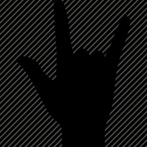 gesture, hand, heavy, horns, metal, rock, sign icon