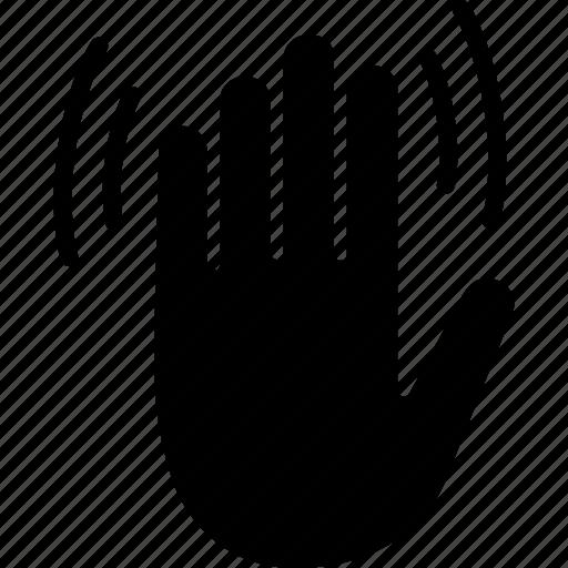Bye, gesture, goodbye, hand, hello, wave, waving icon